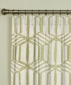 Byron Stone Pencil Pleat Curtains