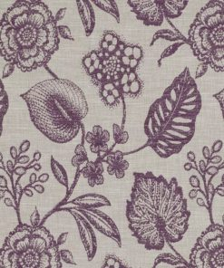 Manon Plum Fabric Pelmet